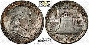 Click now to see the BUY IT NOW Price! 1949 FRANKLIN HALF DOLLAR PCGS MS66  FBL CAC