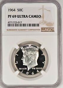 Click now to see the BUY IT NOW Price! 1964 KENNEDY HALF DOLLAR PROOF NGC PF 69 ULTRA CAMEO / PR69DCAM   TOP POP