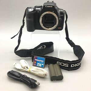 CANON EOS DIGITAL REBEL DS6041 6.3MP SLR CAMERA BLACK BODY ONLY   FAST SHIP B43