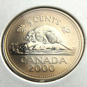 2000 SPECIMEN CANADA 5 CENTS NICKEL UNCIRCULATED CANADIAN COIN FIVE CENTS P539