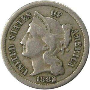 Click now to see the BUY IT NOW Price! 1882 THREE CENT NICKEL TOUGH DATE. FINE
