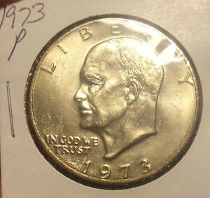1973 P EISENHOWER IKE DOLLAR CHOICE BU COMBINED SHIPPING ONLY $3.50 LOT5183