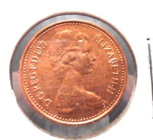 CIRCULATED 1971 1/2 NEW PENNY UK COIN