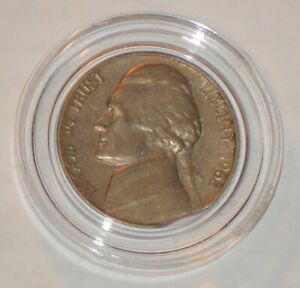 1962 ROSE TONE JEFFERSON FIVE CENT WITH CLIPPED PLANCHET ERROR