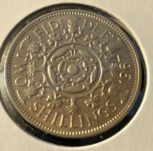GREAT BRITAIN 1967 TWO SHILLING COIN
