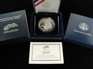 2010 UNITED STATES MINT BOY SCOUTS OF AMERICAN CENTENNIAL PROOF SILVER DOLLAR