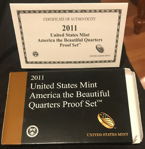 2011 CLAD PROOF SET REPLACEMENT BOX AND COA ONLY NO COINS OR LENS