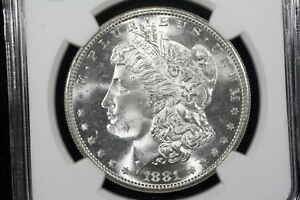 Click now to see the BUY IT NOW Price! 1881 S MORGAN DOLLAR BLAZING GEM BU NGC MS 65
