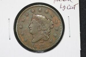 Click now to see the BUY IT NOW Price! 1827 CORONET HEAD LARGE CENT VF