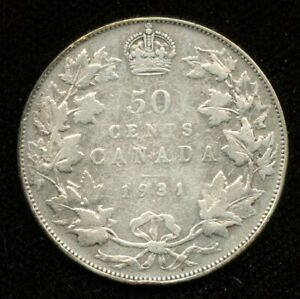 1931 CANADA FIFTY CENTS