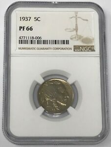 1937 5C BUFFALO NICKEL PROOF PF 66 NGC