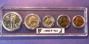 1942 P TYPE I US MINT  COIN SET NICE HIGH QUALITY COINS GEM BU ERROR LINCOLN