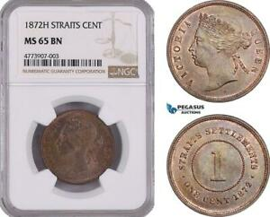 Click now to see the BUY IT NOW Price! AE902 STRAITS SETTLEMENTS VICTORIA 1 CENT 1872 H HEATON NGC MS65BN POP 1/0