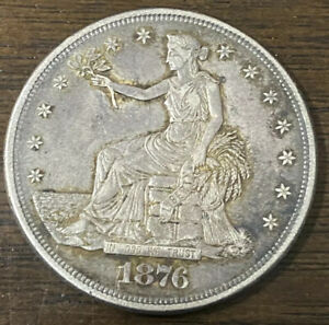 1876 CC TRADE DOLLAR XF  DETAILS$1 SILVER  US COIN LOT 5096
