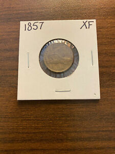 1857 P FLYING EAGLE PENNY CENT 1C EXTRA FINE  XF