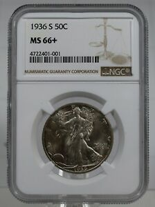Click now to see the BUY IT NOW Price! 1936S WALKING LIBERTY HALF DOLLAR NGC MS66