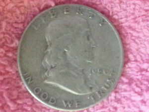 1950 D FRANKLIN HALF DOLLAR COIN