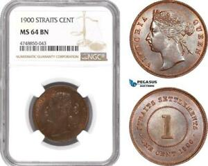 Click now to see the BUY IT NOW Price! AE978 STRAITS SETTLEMENTS VICTORIA 1 CENT 1900 NGC MS64BN TOP POP