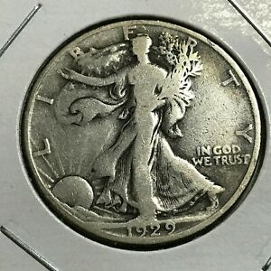 1929 D  SILVER WALKING LIBERTY HALF DOLLAR BETTER DATE  COIN