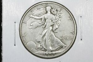 1929 D WALKING LIBERTY HALF DOLLAR XF