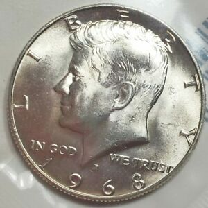 ERROR D MINT RESTRUCK ON S MINT 1968 SILVER PR60 KENNEDY DOUBLE DIE COIN