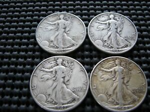 CHOICE 1940 P 1942 P 1946 D 1947 D WALKING LIBERTY HALVES