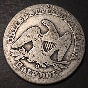 CULL SEATED LIBERTY HALF DOLLAR 50C 90  SILVER OBSOLETE TYPE COIN WORN LOWBALL