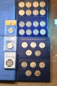 1916 1947 WALKING LIBERTY HALF 65 COIN OUTSTANDING COMPLETE SET HAS NGC COINS8