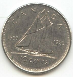 CANADA 1867 1992 DIME CANADIAN 10 CENT PIECE 10C 1867   1992  EXACT  COIN