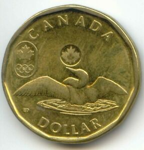 CANADA 2014 OLYMPIC LOONIE CANADIAN ONE DOLLAR $1 EXACT COIN