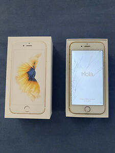 USED APPLE IPHONE 6S 32GB ROSE GOLD W/ BROKEN SCREEN