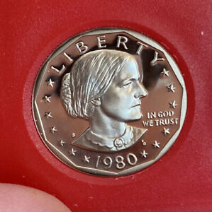 1980 S SBA PROOF $1 COIN   BEAUTIFUL GEM     AS SHOWN    F44
