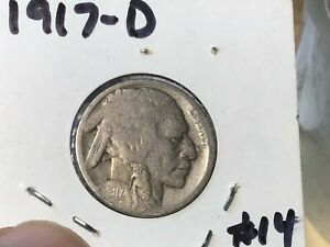 1917 D BUFFALO NICKEL 5C RESTORED DATE WHOLESALE ON G IS $15 1 COIN