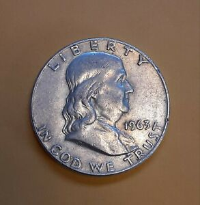 1963 D FRANKLIN 90  SILVER HALF DOLLAR ERROR COIN  REPUNCHED MINT MARK