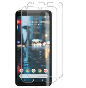 FOR GOOGLE PIXEL 2XL SCREEN PROTECTOR HD CLEAR TEMPERED GLASS BUBBLE FREE 2 PACK