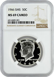 Click now to see the BUY IT NOW Price! 1966 SMS 50C SILVER KENNEDY HALF DOLLAR NGC MS 69 CAMEO