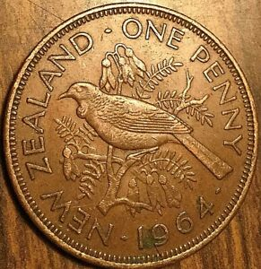 1964 NEW ZEALAND PENNY COIN