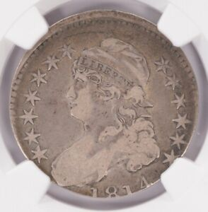 NGC 50C 1814 BUST HALF DOUBLE STRUCK BOTH OFF CENTER F12