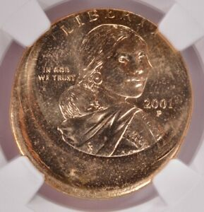 Click now to see the BUY IT NOW Price! NGC $1 2001 P SACAGAWEA DOLLAR STRUCK 15  OFF CENTER MS64