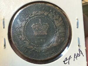 1861 NEW BRUNSWICK LARGE ONE CENT COIN