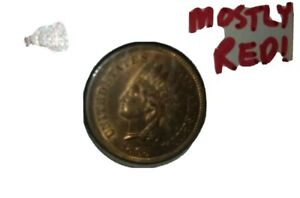 1885 INDIANHEADCENTMOSTLY RED GORGEOUSFANCY5UNRATEDLOOKS UNCIRCULATED YOU DECIDE