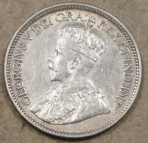 CANADA 1914 SILVER TEN CENTS BETTER CIRCULATED GRADE COIN LIGHTLY CLEANED