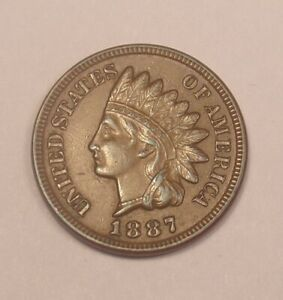 1887 INDIAN CENT CHOICE AU   COMBINED SHIPPING  ..LOT5752