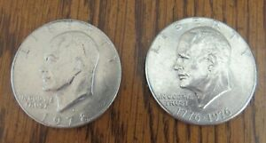 1 EISENHOWER DOLLAR   NOT GRADED 1971 78  NO 1973    89 AVAILABLE