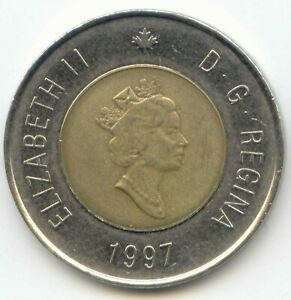 CANADA 1997 TOONIE CANADIAN $2 DOLLARS TWONEY TOONY TWO DOLLAR EXACT COIN SHOWN