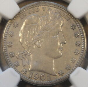 Click now to see the BUY IT NOW Price! 1901 S BARBER QUARTER NGC AU55