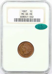 Click now to see the BUY IT NOW Price! 1887 MS66 INDIAN HEAD CENT PENNY NGC MINT STATE 66 RB    CAC  THIS NICE