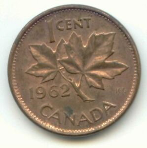 CANADA 1962 CANADIAN PENNY ONE CENT 1C  COIN LOT D