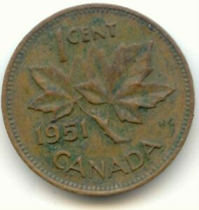 CANADA 1951 CANADIAN PENNY ONE CENT 1C  COIN LOT D