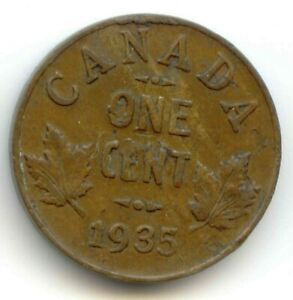 CANADA 1935 CANADIAN PENNY ONE CENT 1C  COIN LOT D